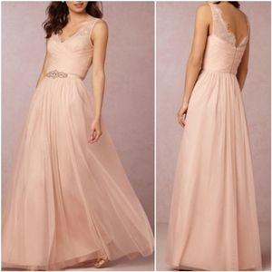 Anthropologie BHLDN Hitherto Fleur Blush Dress